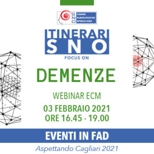ITINERARI SNO IN FAD - Focus on Demenze