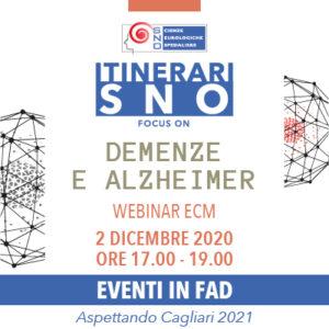 Itinerari SNO in FAD - Focus on Demenze e Alzheimer