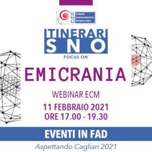 ITINERARI SNO IN FAD - Focus on Emicrania